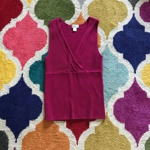 Old Navy XL pink sweater tank top work